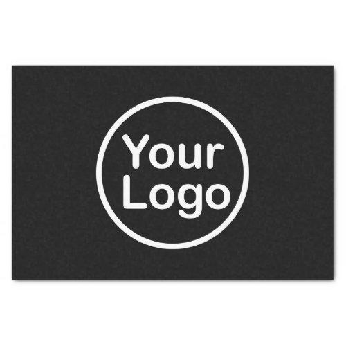 Add Your Own Logo  Black Background Tissue Paper