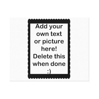 Add Your Own logo Gallery Wrapped Canvas