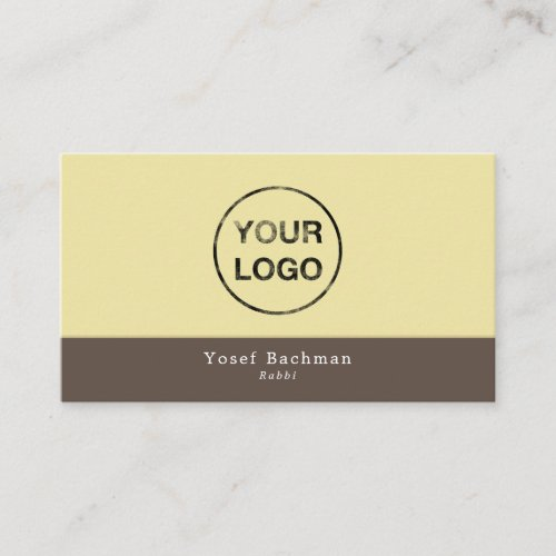 Add Your Own Logo, Judaism, Religious Business Card