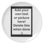 Add Your Own logo Party Plate