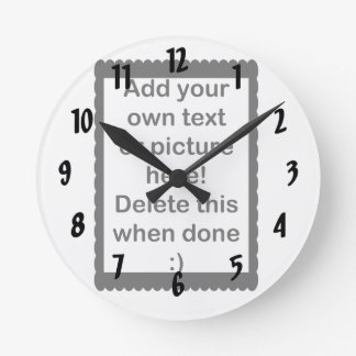 Add Your Own logo Round Clock