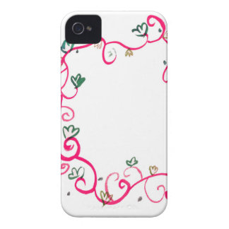 Add Your Own Name or Message Floral Pink Design iPhone 4 Cover