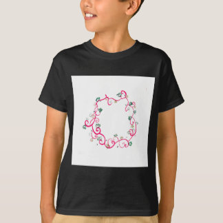 Add Your Own Name or Message Floral Pink Design T-Shirt