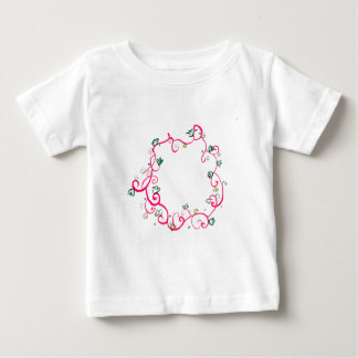 Add Your Own Name or Message Floral Pink Design Tshirts