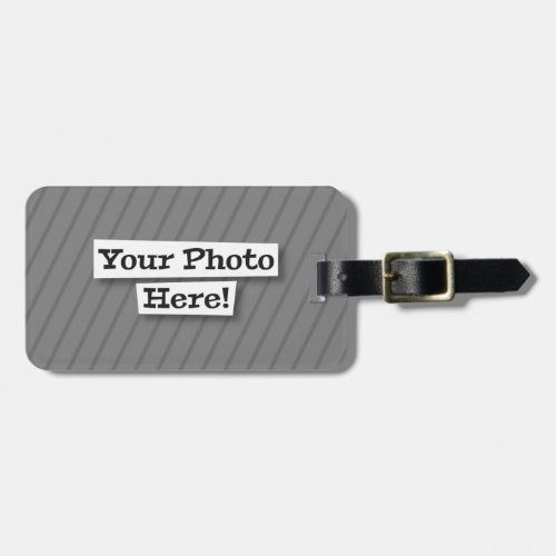 Add Your Own Pattern  Photo Luggage Tag