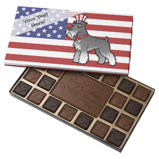 Add Your Own Pet and Flag 45 Piece Box Of Chocolates