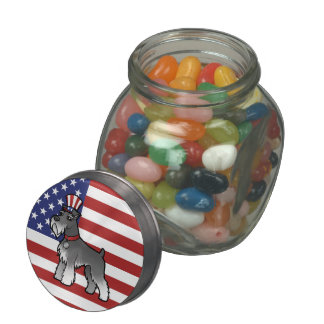 Add Your Own Pet and Flag Glass Candy Jars