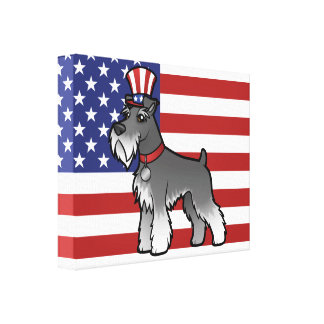 Add Your Own Pet and Flag Canvas Print
