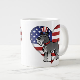 Add Your Own Pet and Flag Giant Coffee Mug