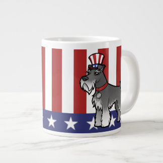 Add Your Own Pet and Flag Large Coffee Mug