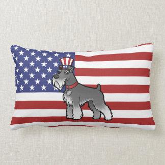 Add Your Own Pet and Flag Lumbar Pillow