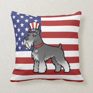 Add Your Own Pet and Flag Throw Pillow