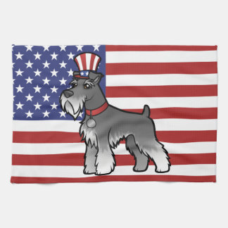 Add Your Own Pet and Flag Towel