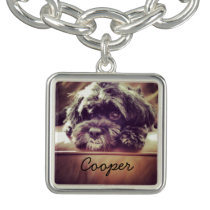 Add your own Pet Photo Charm Bracelet