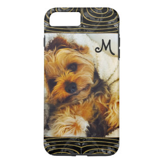 Add Your Own Photo 6/6s Lazy Yorkie Monogram iPhone 7 Plus Case