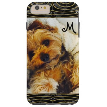 Add Your Own Photo 6/6s Lazy Yorkie Monogram Tough iPhone 6 Plus Case