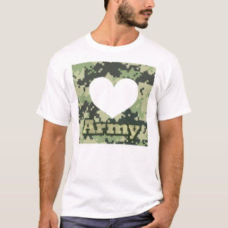 Add Your Own Photo Army Heart T-Shirt