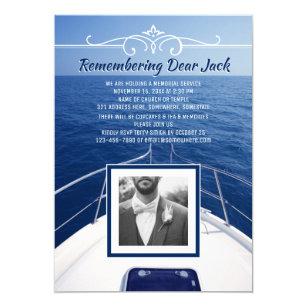 Add Your Own Photo Boat Memorial Service Sailor Invitation