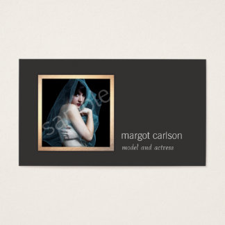 Add Your Own Photo Chic Fashion Photography Business Card