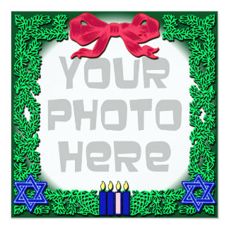 Add Your Own Photo Christmas / Hanukkah Card
