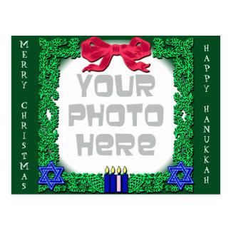 Add Your Own Photo Christmas / Hanukkah Postcard