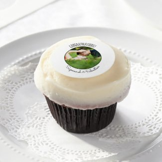 Add Your Own Photo Custom Frame Wedding Shower Edible Frosting Rounds