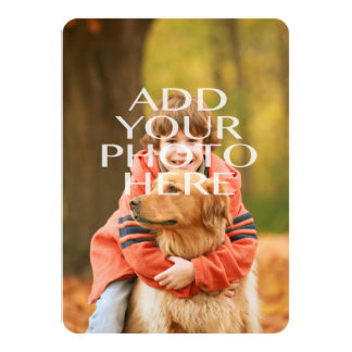 Add Your Own Photo Custom Personalized Card