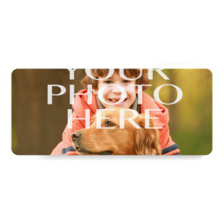 """Add Your Own Photo Custom Personalized 4"""" X 9.25"""" Invitation Card"""