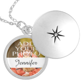 Add Your Own Photo Custom Personalized Round Locket Necklace