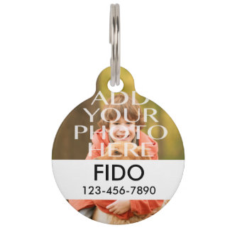 Add Your Own Photo Custom Personalized Pet Tag