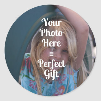 ADD YOUR OWN PHOTO EASY UPLOAD GIFT Mother's Day Classic Round Sticker