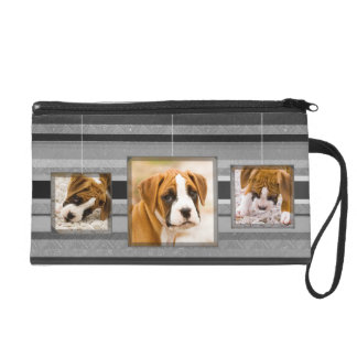 Add Your Own Photo Frame Stripes Bagettes Bag