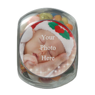 Add your own photo glass jar