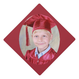 Add your own photo graduation - red graduation cap topper