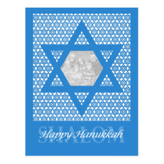 ADD YOUR OWN PHOTO - Hanukkah - Star of David Postcard
