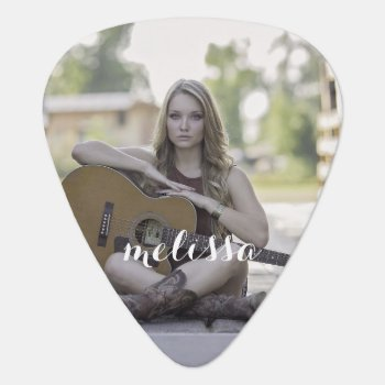 Add Your Own Photo Name Guitar Pick by rockandpicks at Zazzle