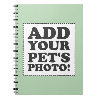 """""""Add Your Own Photo"""" Spiral Notebooks"""