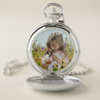 ADD YOUR OWN PHOTO OR TEXT POCKET WATCH