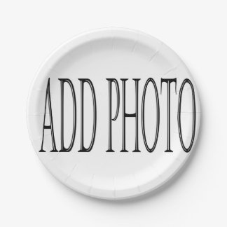 add your own photo paper plates