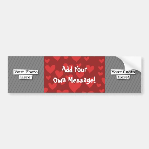 Add Your Own Photo  Pattern Bumper Sticker