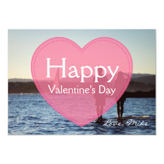Add Your Own Photo Pink Valentine's Day Photo Card