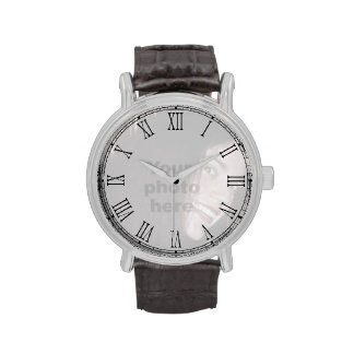 Add your own photo Roman numeral face watch