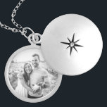 "Add Your Own Photo Silver Plated Necklace<br><div class=""desc"">The ability to create your own custom locket is right here! The photo you see on this product is a black and white stock photo of a couple holding a cat. However, you can replace this photo with your very own! Just click her photo, or the word ""change"" on the...</div>"