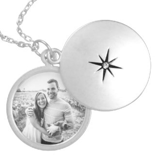 Add Your Own Photo Silver Plated Necklace