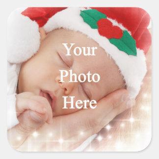add your own photo square sticker