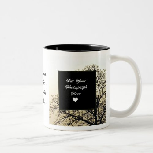 ADD YOUR OWN PHOTO  TEXT Two_Tone COFFEE MUG