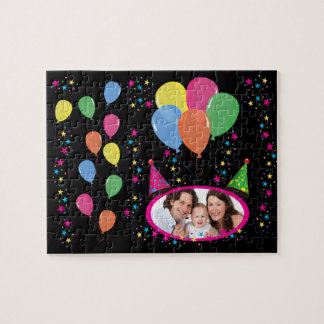 Add Your Own Photo to Party Hats and Balloons Jigsaw Puzzle