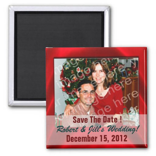 Add Your Own Photo To Save The Date Magnets