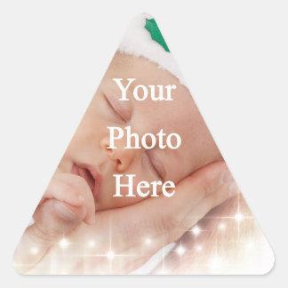 Add your own photo triangle sticker