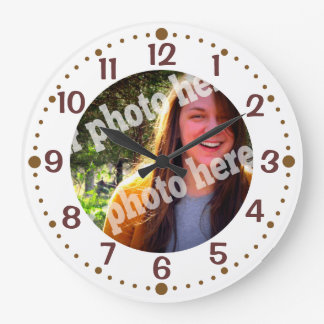 Add Your Own Photo White Clock w/ Minutes Template
